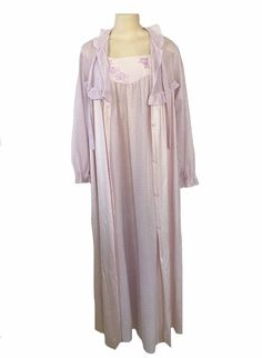 Vintage Formfit Lilac Peignoir Gown and Robe Set Size Small Medium | eBay