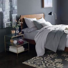 West Elm offers modern furniture and home decor featuring inspiring designs and colors. Create a stylish space with home accessories from West Elm. West Elm, Rustic Side Table, Modern Side Table, Side Tables, Mens Bedding Sets, Bedding Shop, Men's Bedding, Living Room Decor, Bedroom Decor