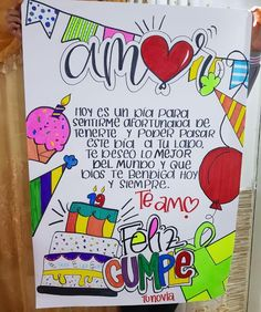 Creative Birthday Cards, Simple Birthday Cards, Cute Birthday Gift, Diy Birthday, Happy Birthday Cards, Birthday Wishes For A Friend Messages, Ideas Aniversario, Marvel Paintings, Bullet Journal Banner