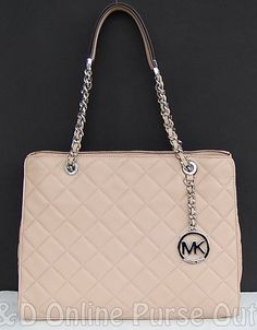 1b007d24bf7b NWT Authentic Michael Kors Susannah Quilted Leather Large Tote Bag ~Blush  $398 #MichaelKors #