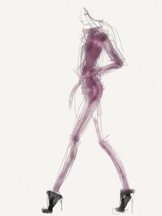 Danielle Meder FinalFashion Illustrations at Fashion Week - FLARE
