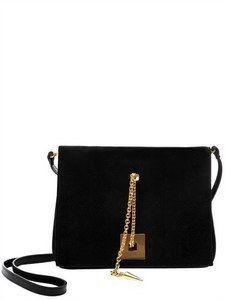 Giuseppe Zanotti - Anja Rubik Jewel Suede Shoulder Bag | FashionJug.com