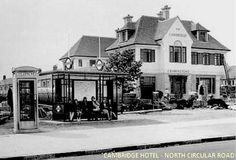 The Cambridge pub on the roundabout