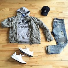 Would definitely go for this style of outfit if I wasn't such a hipster. The Ultra Boost shoes in that color way are sick as hell lolz. I also dig the moto look to the jeans.