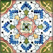 "Hand-painted 6""x6"" Spanish ceramic tile -- Andalucia"