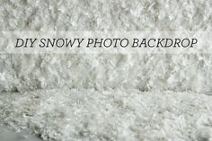 Hank and Hunt - HOME - HOW TO MAKE AN EASY SNOWY PHOTO BACKDROP