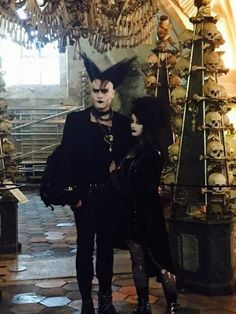 A lovely girl took a photo of us at the Sedlec Ossuary and sent it :3