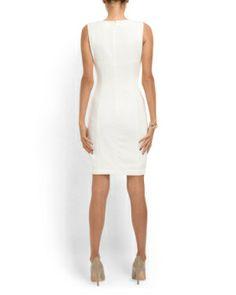 image of Cutout Twist Neck Sheath Dress