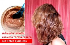 Aclara tu cabello con esta receta casera, sin tintes químicos How To Get Rid Of Acne, Natural Beauty Tips, Curly Girl, Facial Masks, Skin Care Tips, Shaving, Beauty Hacks, Hair Color, Hair Beauty