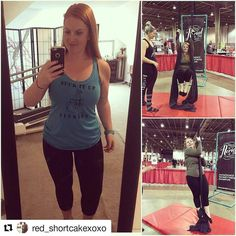 Kicking some a with @red_shortcakexoxo  Had a great time at the Charlotte health and fitness expo. I am trying to step out of my comfort zone and try new things so I got talked in to trying the aerial fitness and surprisingly liked it and am looking in to trying an actual class. I Got my kidneys checked (which included doing the height weight thing which I used to avoid at all costs) I did a dance cardio class (which was awesome and can't wait to try and get to some classes) visited lots of…