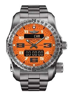 Breitling Emergency II beacon | Analog/LCD display, sapphire face, water resistant to 165 feet, titanium chronometer dual-frequency locator beacon; can be triggered to send your location to rescue teams by the onboard satellite transmitter