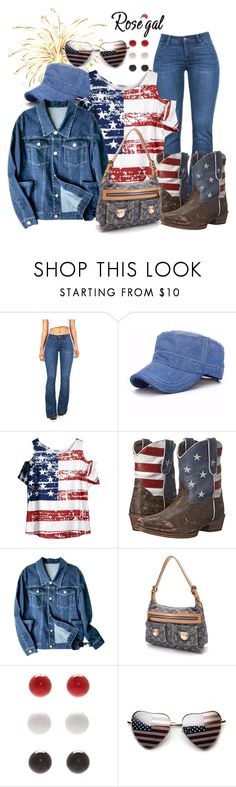 """rosegal 4th at the rodeo"" by caroline-buster-brown ❤ liked on Polyvore featuring Roper, Louis Vuitton and Kim Rogers"