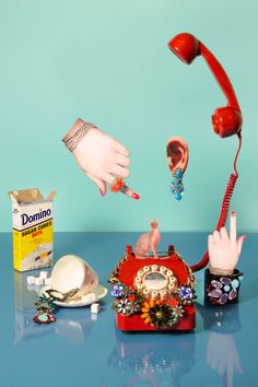 Using different objects and putting them on different places can create a neat pop art photo.