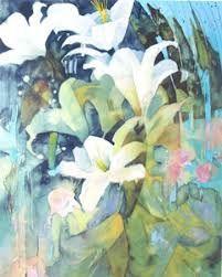 shirley trevena - Google Search Watercolor Artists, Abstract Watercolor, Watercolor Paintings, Watercolours, Abstract Flowers, Watercolor Flowers, Shirley Trevena, Lily Painting, Day Lilies