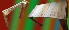 pallet wood desk.   http://www.redearedgnome.blogspot.com