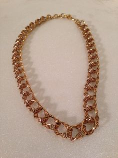 Vintage signed Monet gold chain necklace choker on Etsy, $39.99