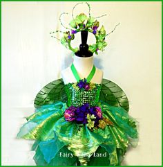 SUMMER SALE - Woodland Fairy - Flower Girl - Fairy Costume size 10 to 14