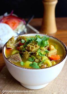 Mute Santandereano (Santander-Style Soup) by My Colombian Recipes My Colombian Recipes, Colombian Food, Crockpot Recipes, Cooking Recipes, Using A Pressure Cooker, Comida Latina, Beef Ribs, Crock Pot Soup, Latin Food
