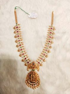 Pearl Necklace Designs, Gold Earrings Designs, Antique Necklace, Gold Jewelry Simple, Indian Wedding Jewelry, Bridal Jewelry, Gold Choker, Gold Necklace, Indian Gold Jewellery Design