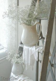 beautiful white pitcher