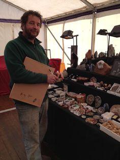 A splendid display of Lyme Regis fossils.