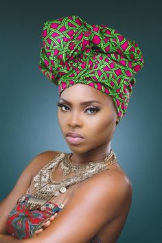 Chidinma Releases Fab New Photos as She Turns a Year Older. Ankara. Wax Print. West African Fabric. Fashion. Head Wrap.
