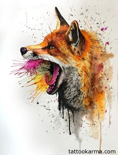 fox tattoo watercolor - Pesquisa Google