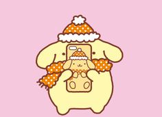 Pompompurin Sanrio Characters, Cute Characters, Wallpaper Backgrounds, Wallpapers, Kawaii Wallpaper, Jolie Photo, Charlie Brown, All The Colors, Hello Kitty