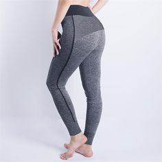 High-Waisted Athletic Mesh Yoga Pants