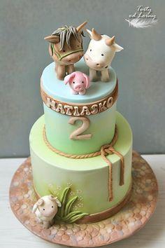 Barnyard Cake, Farm Cake, Farm Animal Cakes, Farm Animals, Buffet, Cake Decorating, Birthdays, Theater, Woodland