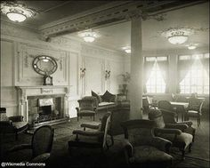 Reading and Writing Room on the A-Deck aboard Titanic.