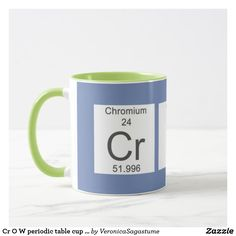 cr o w periodic table cup in blue green