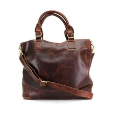 Leather Purse Brown Distressed Leather Tote by TheLeatherStore
