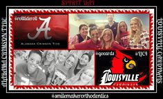 It's SPIRIT DAY in the office today! And it isn't hard to tell who our favorite teams are! All of the SmileMaker team members are supporting their favorite teams, Alabama(Stephanie, Erin, Kaylee, and Kate) and Louisville(Dr. Burton and Melissa) today as this weekend holds some big games! We hope all of you have a great weekend supporting your favorite teams! From our SmileMaker team to yours, ROLL TIDE and GO CARDS! #spiritday #Gocards #L1C4 #RollTideRoll #smilemakerorthodont Team Member, Alabama Crimson Tide, Roll Tide, Orthodontics, Big Game, Braces, Spirit, Day, Cards