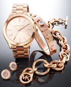 Michael Kors Rose Gold-Tone Gift Set | macys.com