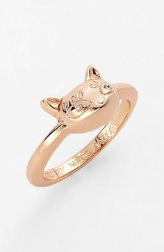 MARC by Marc Jacobs 'Dynamite - Rue' Cat Ring Rose Gold