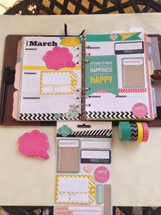 Filofax decorated Pages // Craft Room Secrets