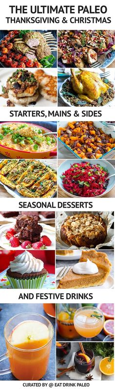 The Ultimate Paleo Thanksgiving Menu (also great for Christmas!). Whether you're hosting the whole event or you have to bring a dish, these paleo friendly Thanksgiving and Christmas recipes will delight any crowd.