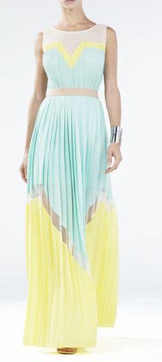 Loving this mint & yellow maxi dress
