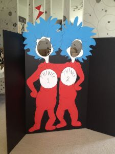 Thing 1 and Thing 2 photo-op