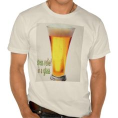 Stress reliever, in a glass, t-shirt
