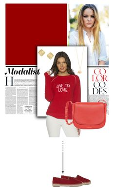 """""""Casual in Red"""" by modalist ❤ liked on Polyvore featuring Peace Love World, Alex Monroe, Kendra Scott and Mansur Gavriel"""