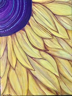 Simple Sunflower - God takes care of Sunflowers He'll take care of you. Artist: Michelle Bentham (c) 2017.