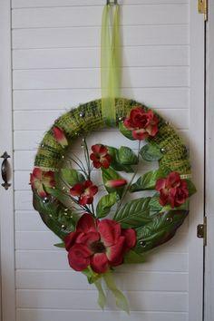 Wand-/Türkranz grün-rot von Geschenke-Tee-Keramik auf DaWanda.com