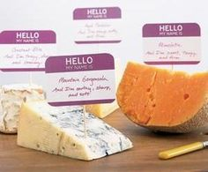 What a cute idea for identifying cheese or other items at a party. Dress it up even more by printing on Avery 5140 name badges instead of handwriting.