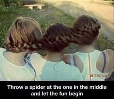 Throw a spider at the one in the middle...