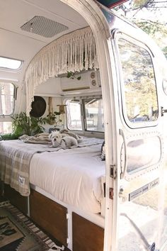 A creative couple and their adorable dog live full time in this well-designed (and DIYed!) home on wheels.