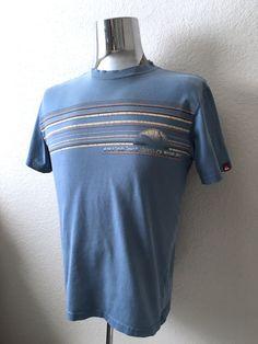 Vintage Men's 90's Quicksilver, Surf T Shirt, Blue, Short Sleeve (S) by…