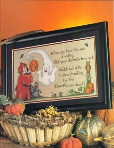 Counted Cross Stitch Halloween Owls A' by VintageCrossStitch