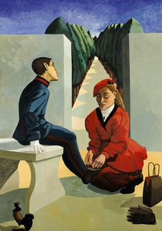 Paula Rego, The cadet and his sister , Executed in 1988. Lot sold: £ 1,145,000, Auction record for the artist Photo: courtesy Sotheby's